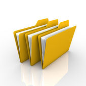 Folders and files — Stock Photo