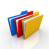 3 folders — Stock Photo