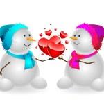 Gelukkig sneeuwpop — Stockvector  #13374081