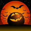 Halloween night. — Vettoriale Stock