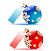 Christmas tree decorations — Stock Vector