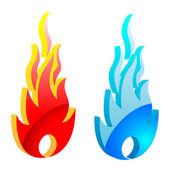 Plamen ohně — Stock vektor
