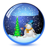 Snowman bals — Stock Vector