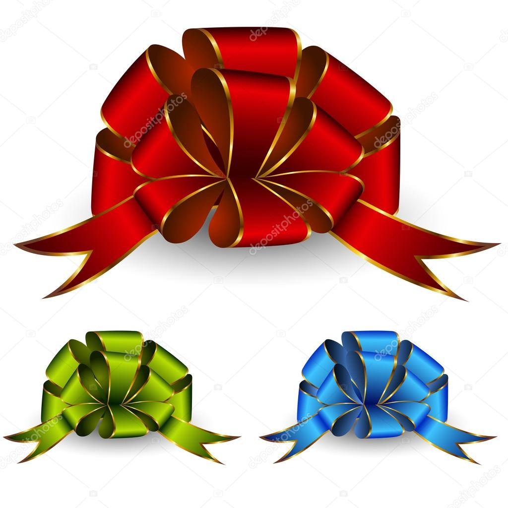 Collection of celebratory bows — Stock Vector #13375137