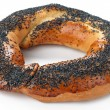 Bagel on white — Stock Photo