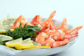Cooked shrimp — Stock Photo