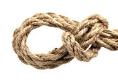 Rope with knot — Foto Stock
