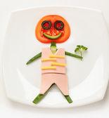Hombre de verduras — Foto de Stock