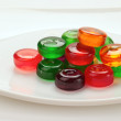 Glass colored candies - Stock Photo