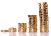 Monete d'oro — Foto Stock