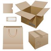 紙包装 — ストックベクタ