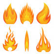 Stock Vector: Flame fire