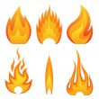 Flame fire — Stock Vector #25876959