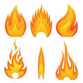 Flame fire — Stock Vector