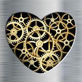 Metal heart — Stock Vector