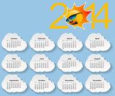 Calendar 2014. — Stock vektor