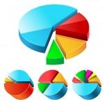 Charts set — Stock Vector