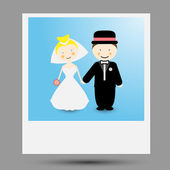 Bride and groom — Stock Vector