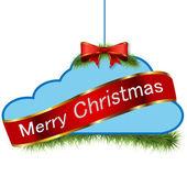 Kerstmis wolk — Stockvector