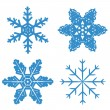 Set blue Snowflake — Stock Vector