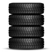 Black tire — Stock Vector