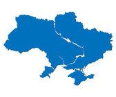 Map of Ukraine — Stock Vector