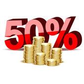 Coins gold  — Stock Vector