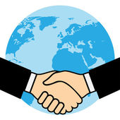 Handshake of business partners — Stock Vector