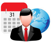 Homem de negócios de ícone — Vetor de Stock