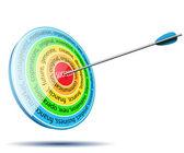 Business target  — Stock Vector