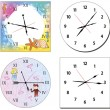 Set of hours — Stock Vector