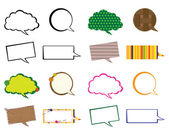 Set of speech bubbles — Vector de stock