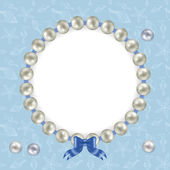 Sea blue pearls — Vettoriale Stock