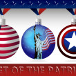 Set of the patriot — Stock Vector