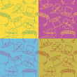 Stockvector : Texture on colored background