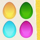 Conjunto de huevos de vector — Vector de stock