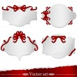 Set of cards with ribbons — Stock Vector #18167729