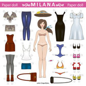 Paper doll — Stock Vector