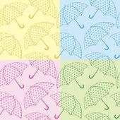 Bezešvá textura deštníky — Stock vektor