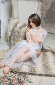 Young bride in lingerie — Zdjęcie stockowe
