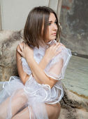 Young bride in lingerie — Stock Photo