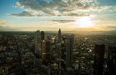 Panoramatický pohled z frankfurtu nad mohanem — Stock fotografie