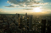 Panoramisch uitzicht over frankfurt am main — Stockfoto