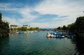 Beautiful view of Zurich, Switzerland — Stock Photo
