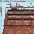 Stock Photo: Grungy blue door
