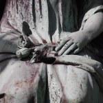 Деталь надгробная плита — Стоковое фото