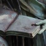 détail d'une statue de Pierre grave — Photo #13179785