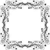 Frame flowers — Stock Vector