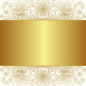 Creamy and gold background — Stok Vektör