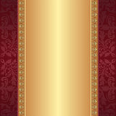 Maroon and gold background — Stock Vector